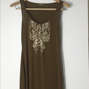 Athleta Xs sleeveless brown ivory yoga exercise